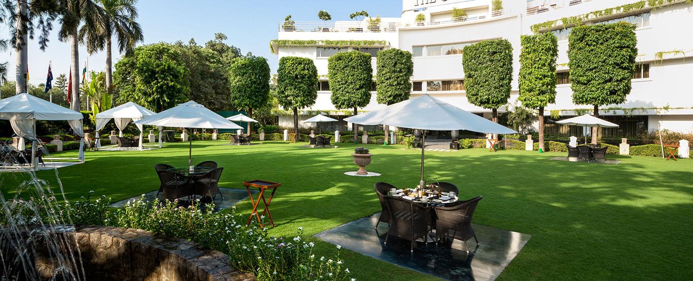 Lawns at The Claridges Hotel, New Delhi
